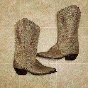 Dingo Leather Cowboy Boots | Size 7.5